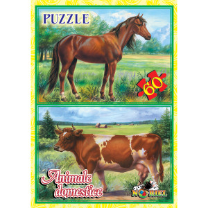 Noriel Puzzle 60 piese - Animale Domestice